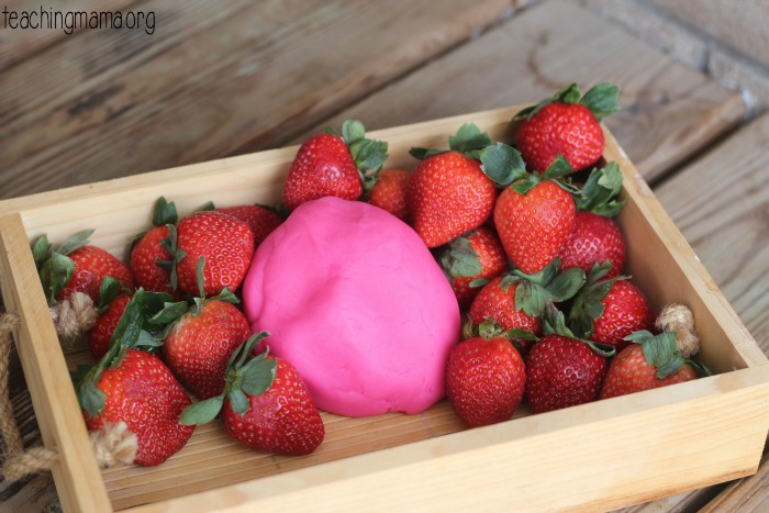 strawberry playdough 2