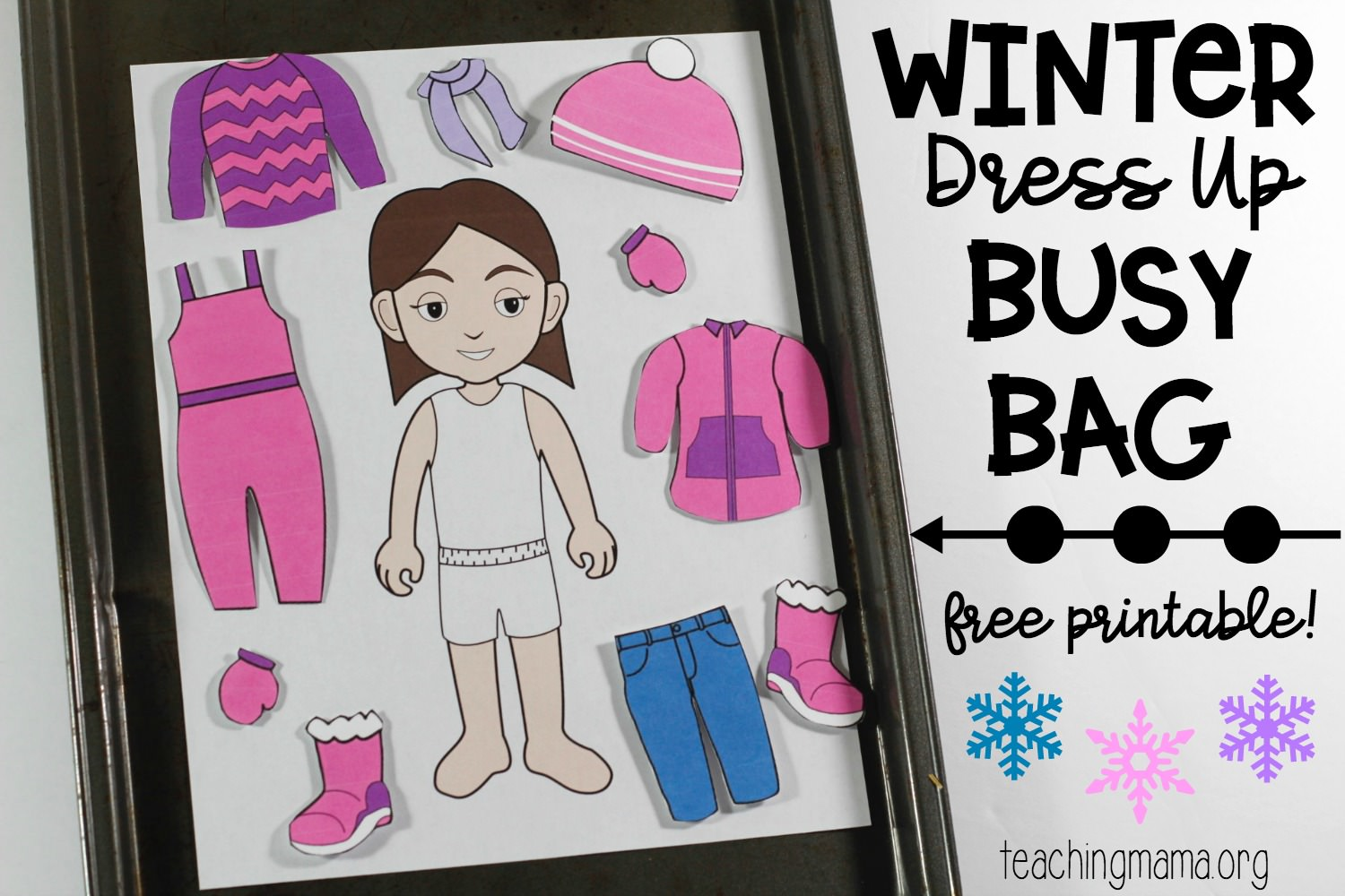 winter dress up busy bag