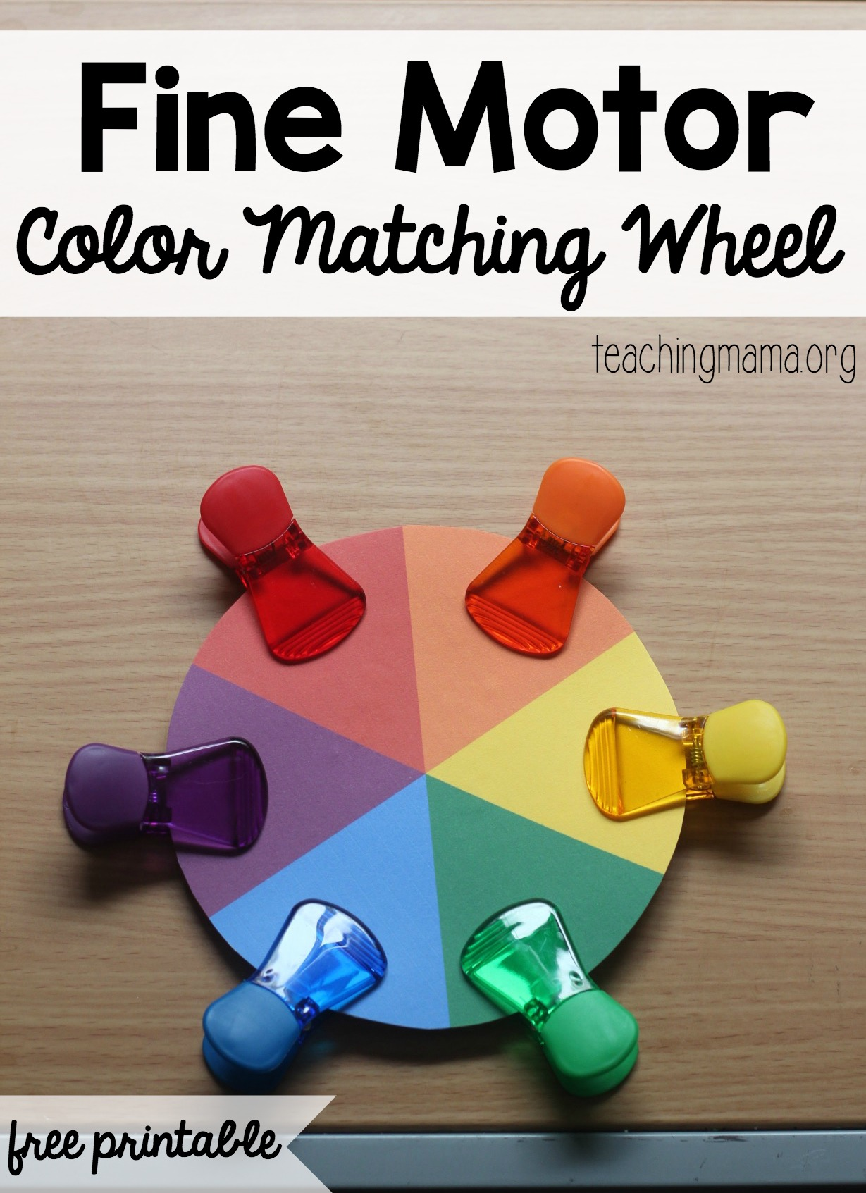Fine Motor Color Matching Wheel