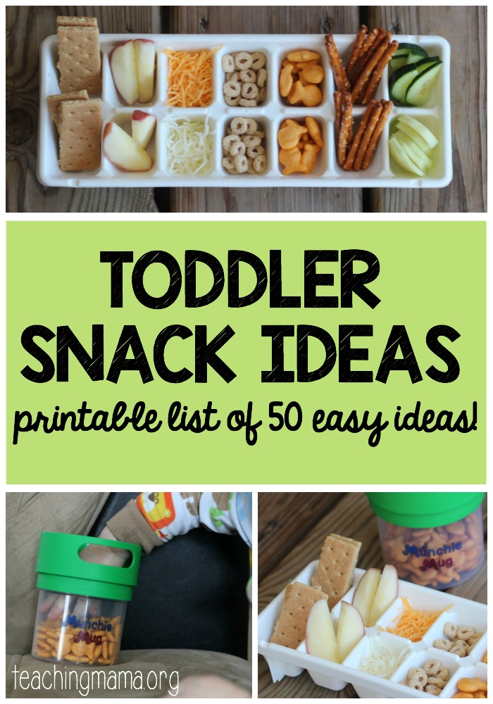 Toddler Snack Ideas - Pin