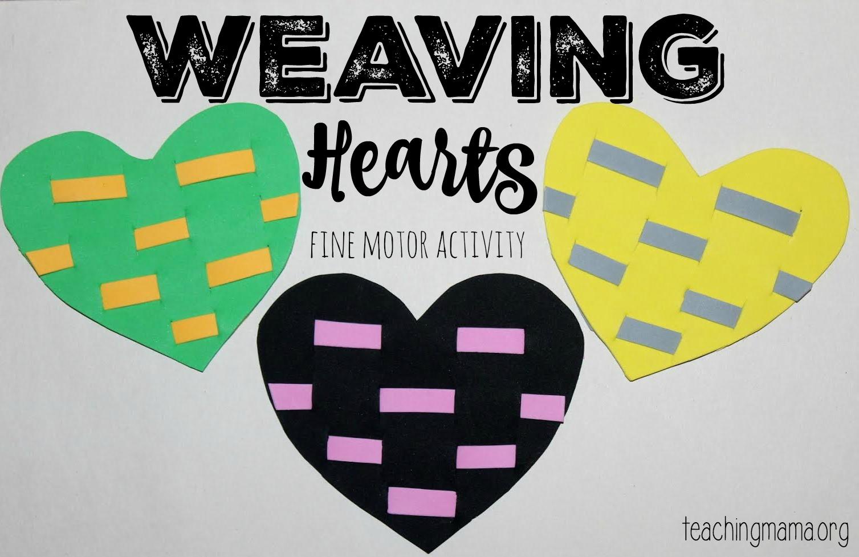 Weaving Hearts Fine Motor Activity