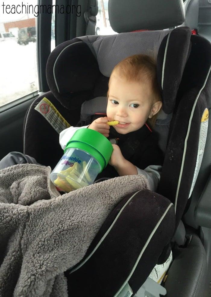 Munchie Mug in the Car