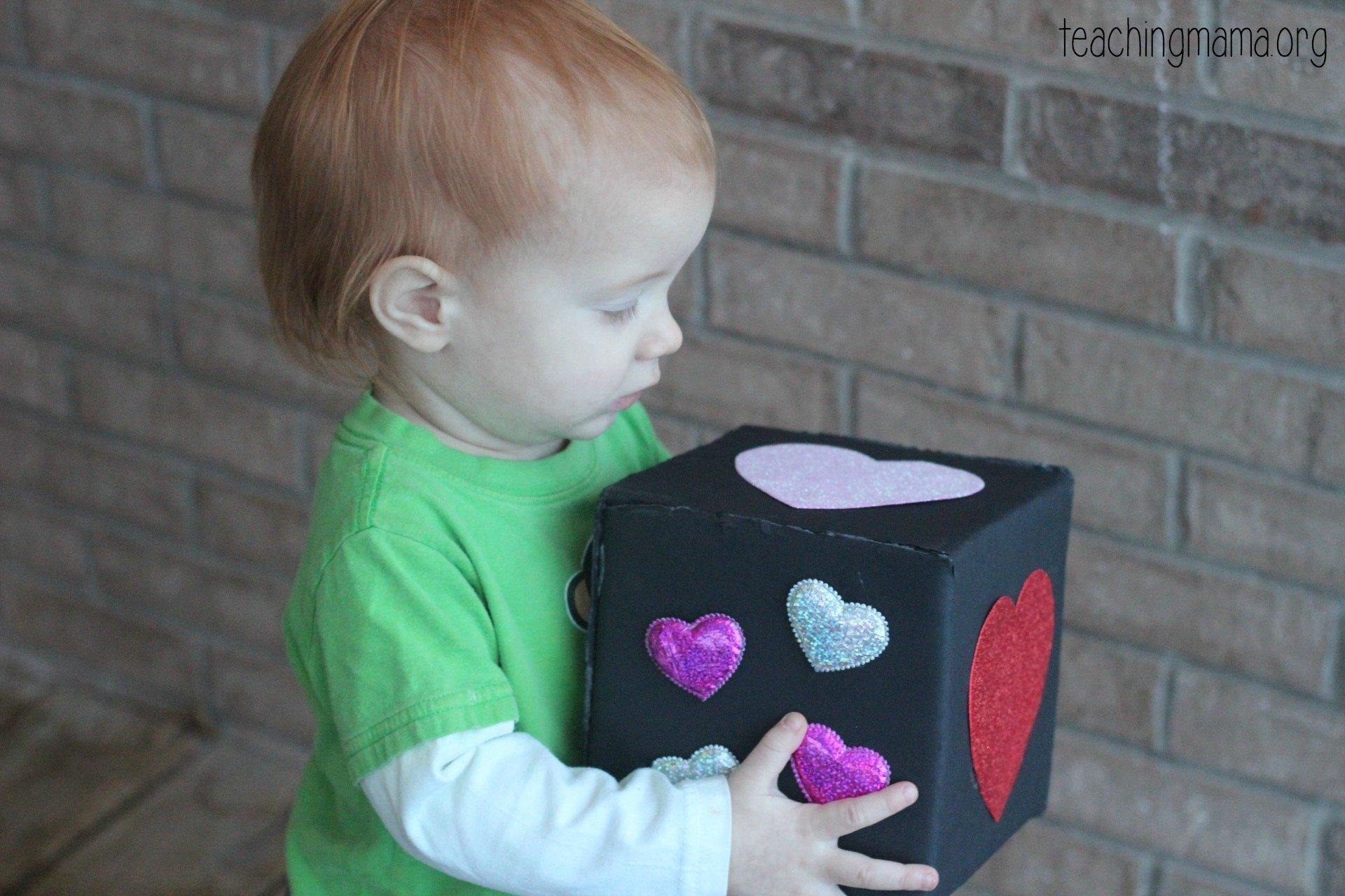 holding sensory cube