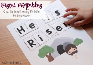 Christ-Centered Easter Printables for Preschoolers