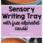 Sensory Writing Tray with Alphabet Cards