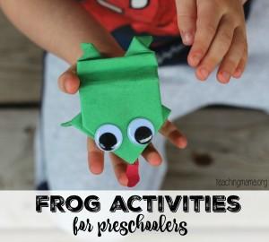 Frog Activities for Preschoolers