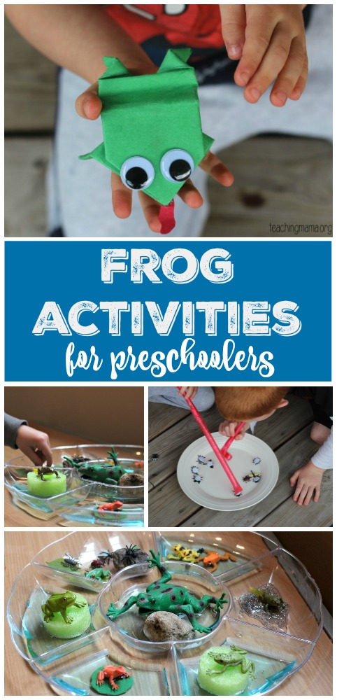 Frog Activities for Preschoolers Pin
