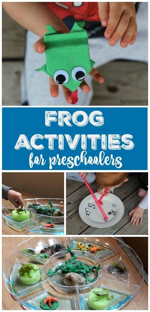 Frog Activities for Preschoolers Pin