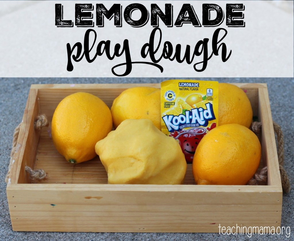 Lemonade Play Dough2