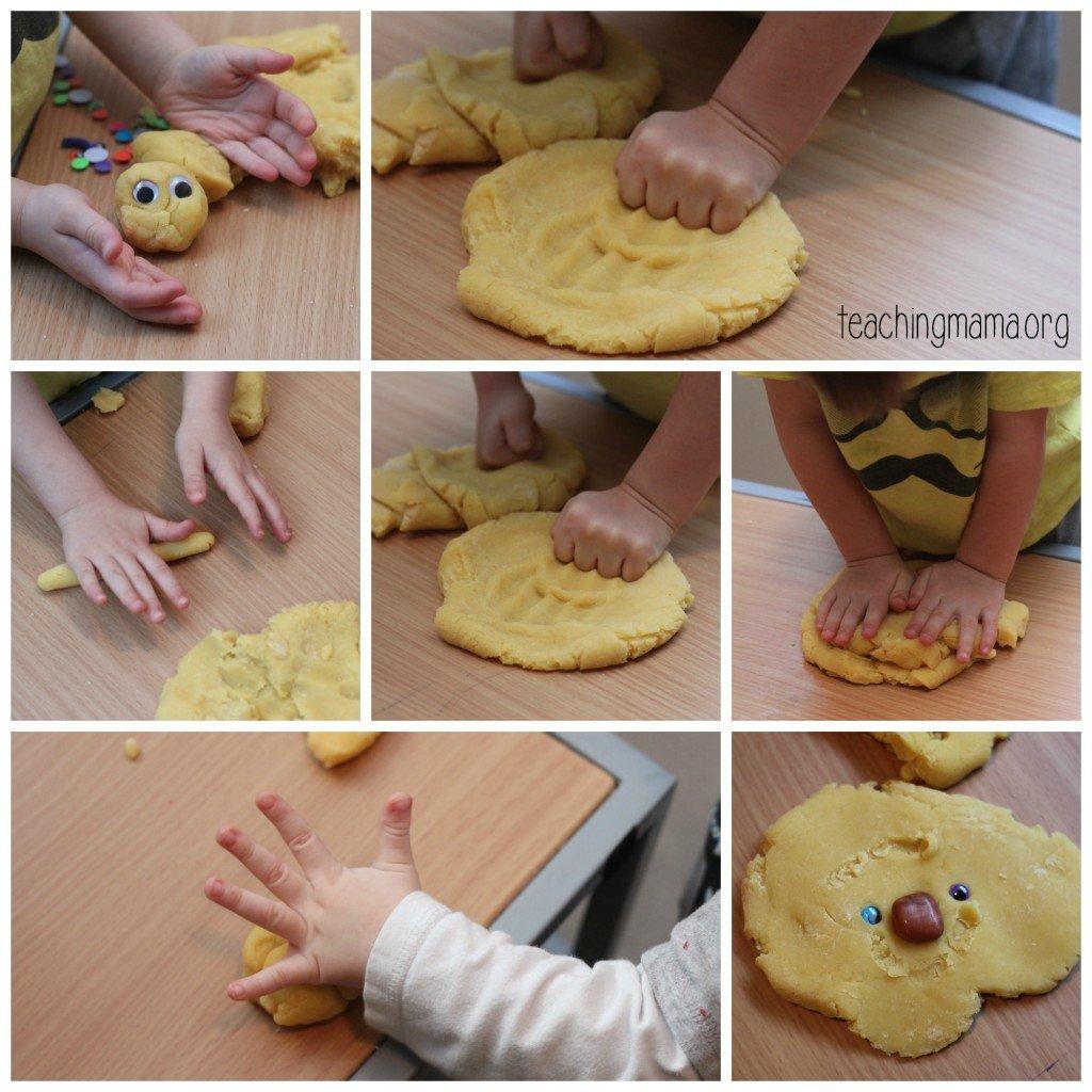 Lemonade Play dough collage