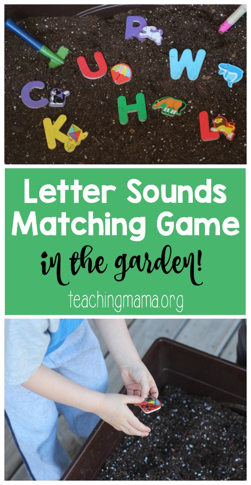 Letter Sounds Matching Game in the Garden