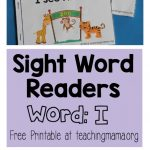 "Sight Word Reader for the Word ""I"""