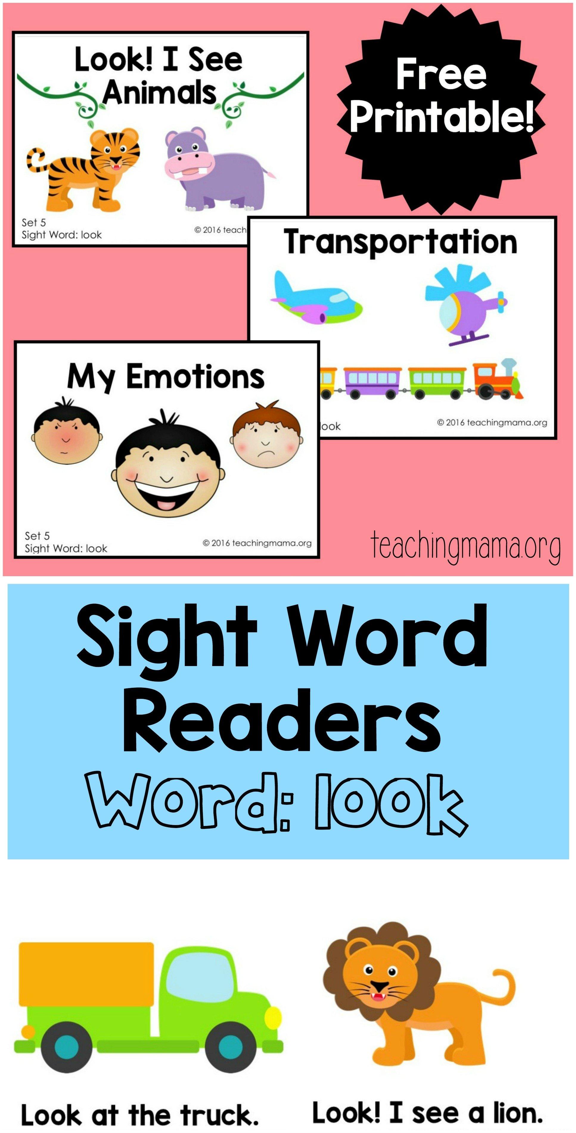 Sight Word Readers- look