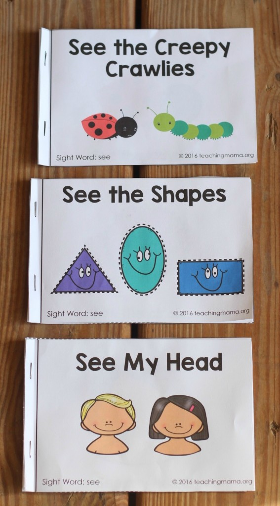 more sight word readers