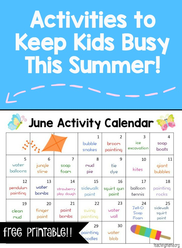 Activities for June 2