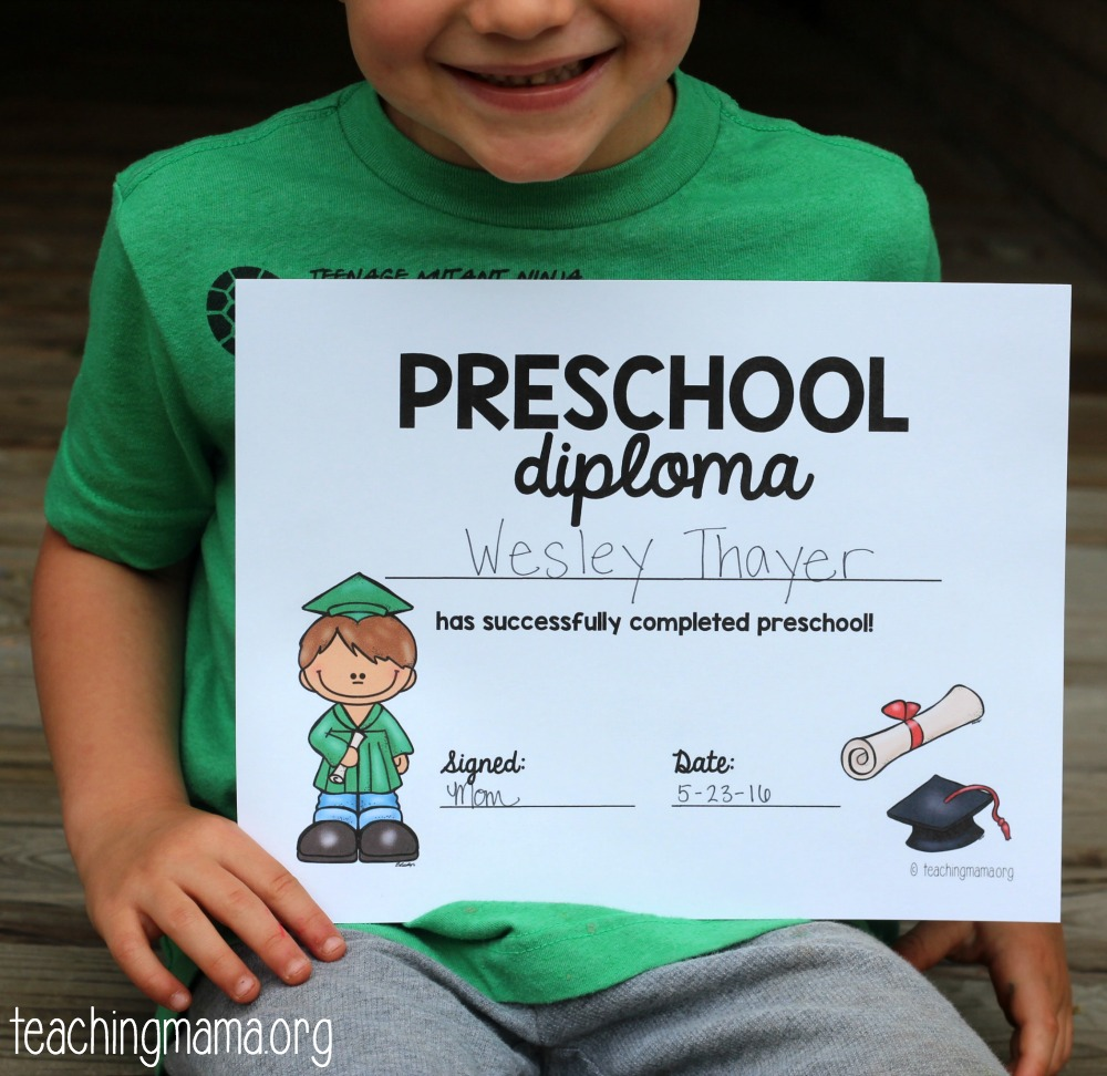 graphic regarding Pre Kindergarten Diploma Printable named Preschool Commencement Degree