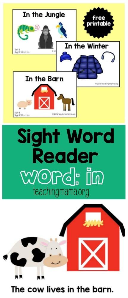 Sight Word Reader - In