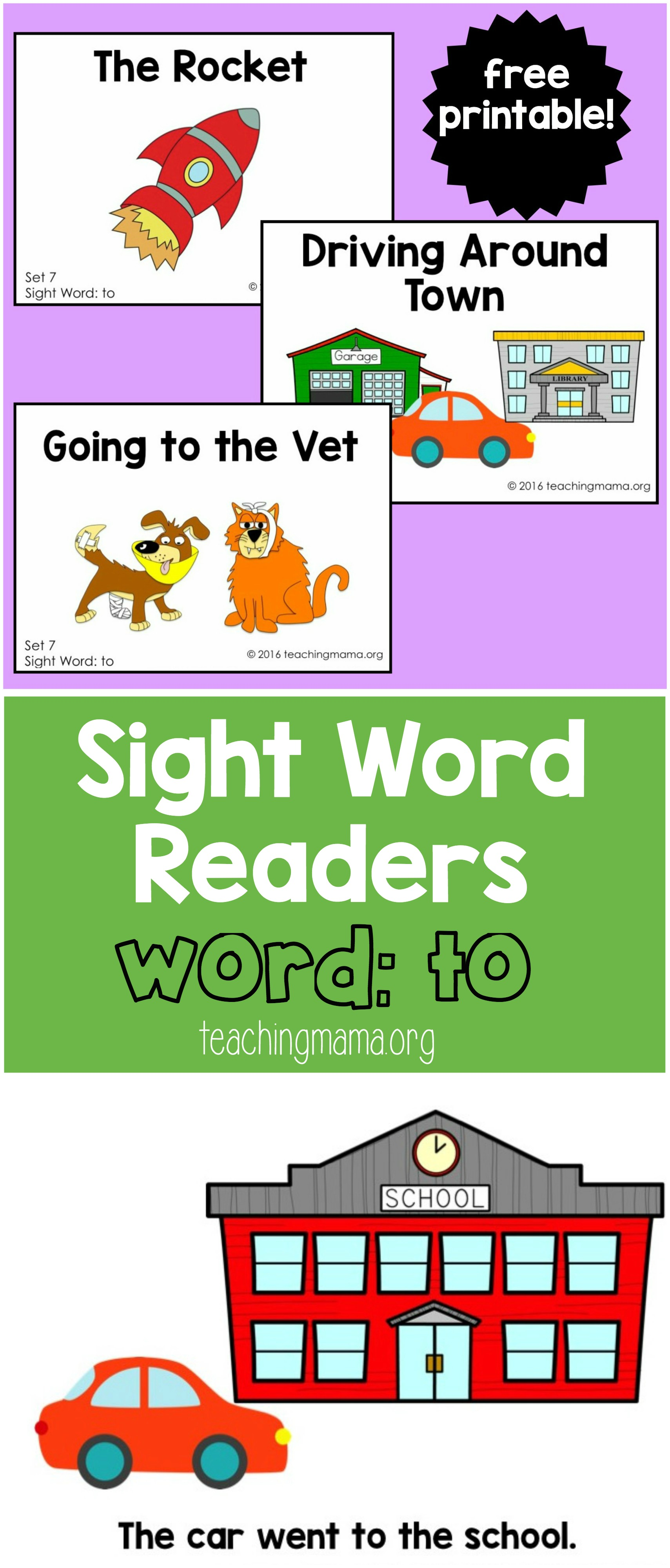 Sight Word Reader- to