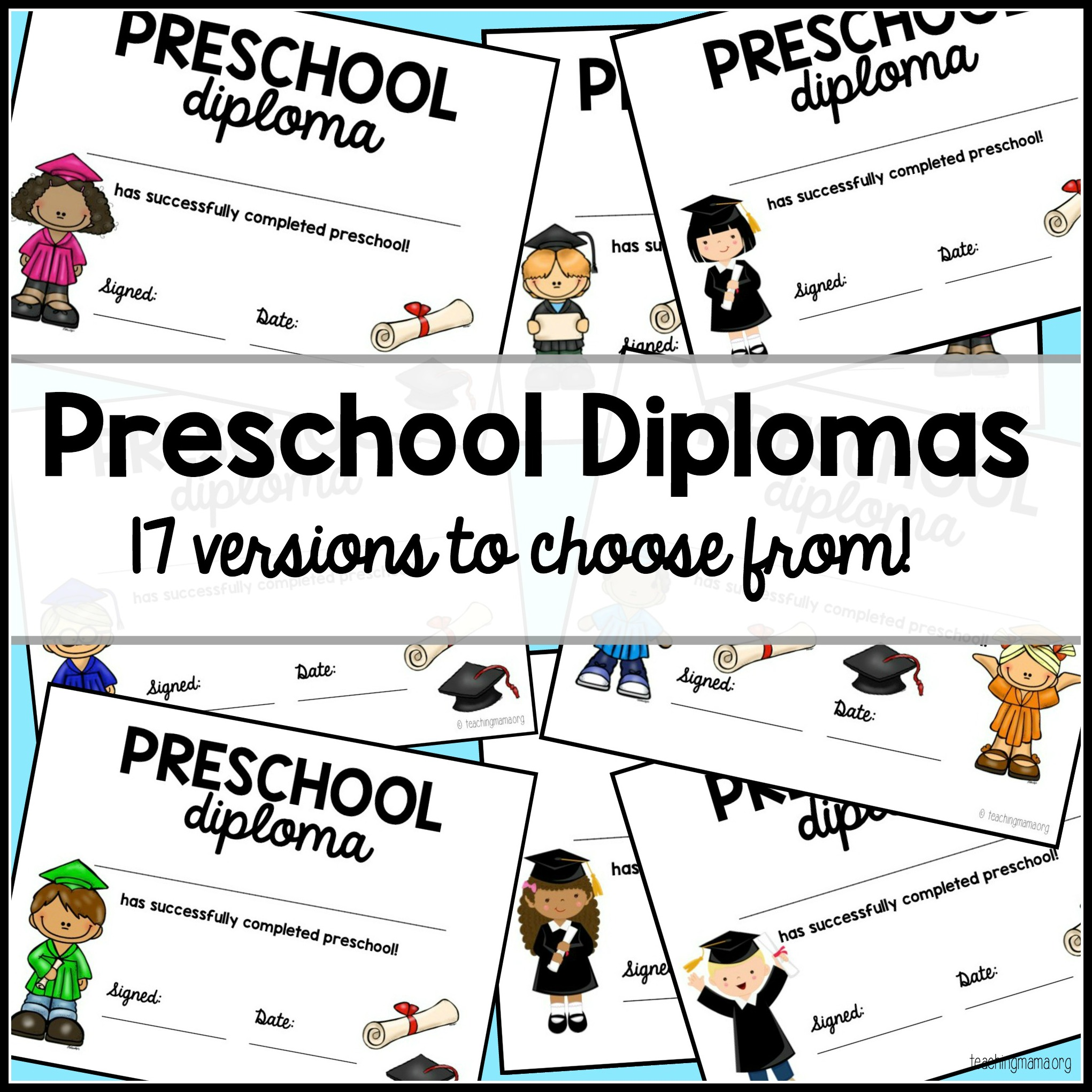 the kids love it and its a fun way to bring the year to a close today im sharing with you my free preschool graduation diplomas