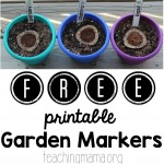 Garden Printables for Kids