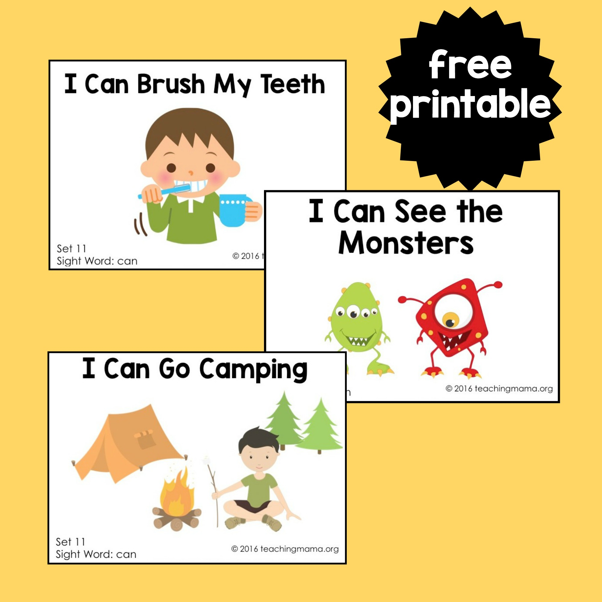 Simplicity image throughout printable sight word readers