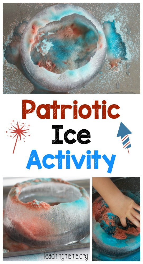 Patriotic Ice Activity Pin