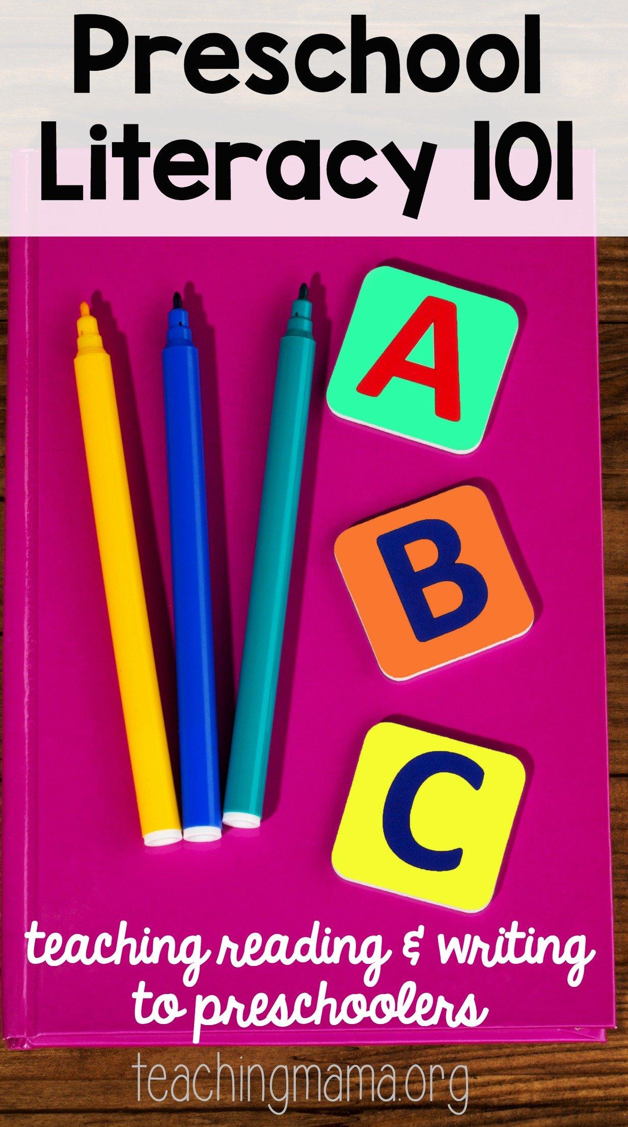 Preschool Literacy 101