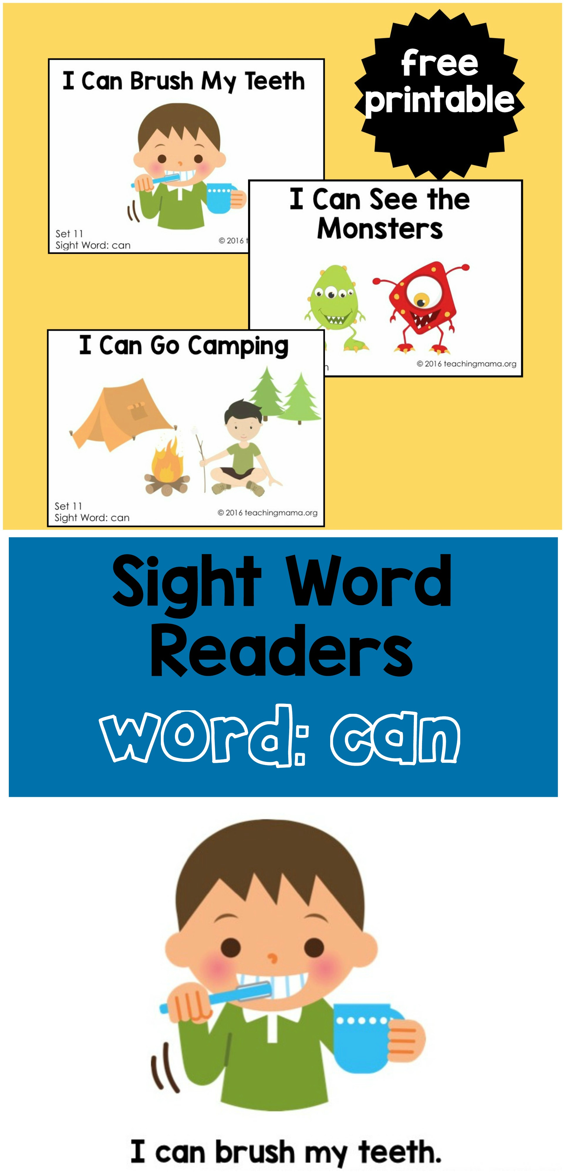 Sight Word Reader - Can