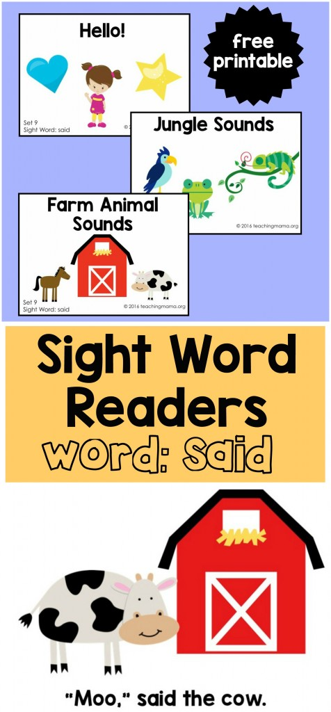 Sight Word Reader-said