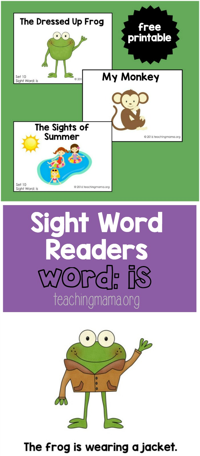 Sight Word Readers - Is