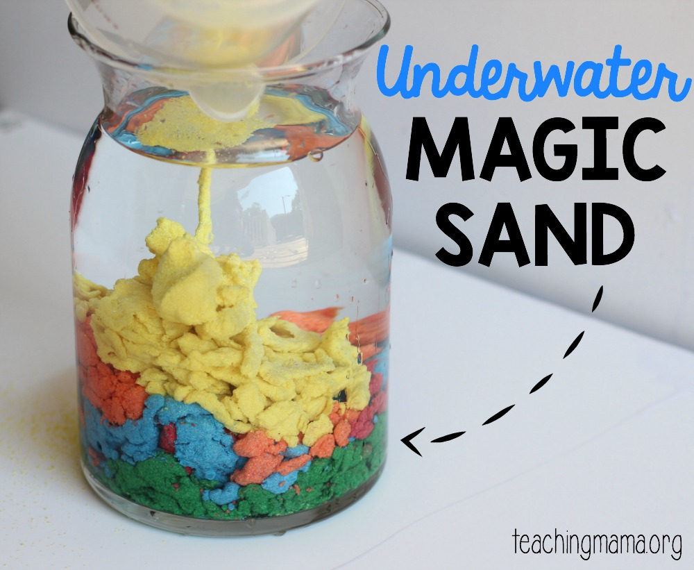 Underwater Magic Sand Experiment