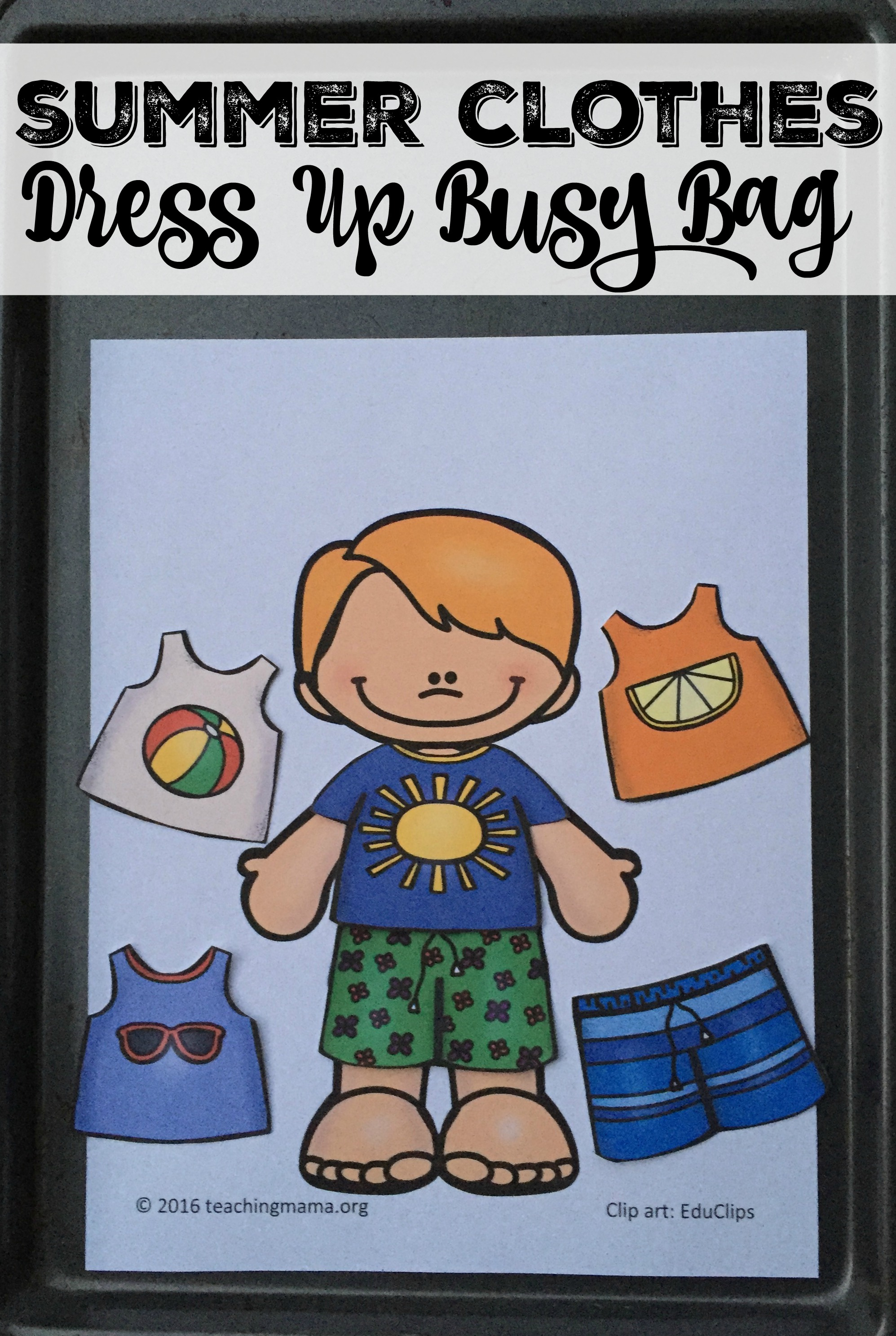 Summer Clothes Dress Up Busy Bag
