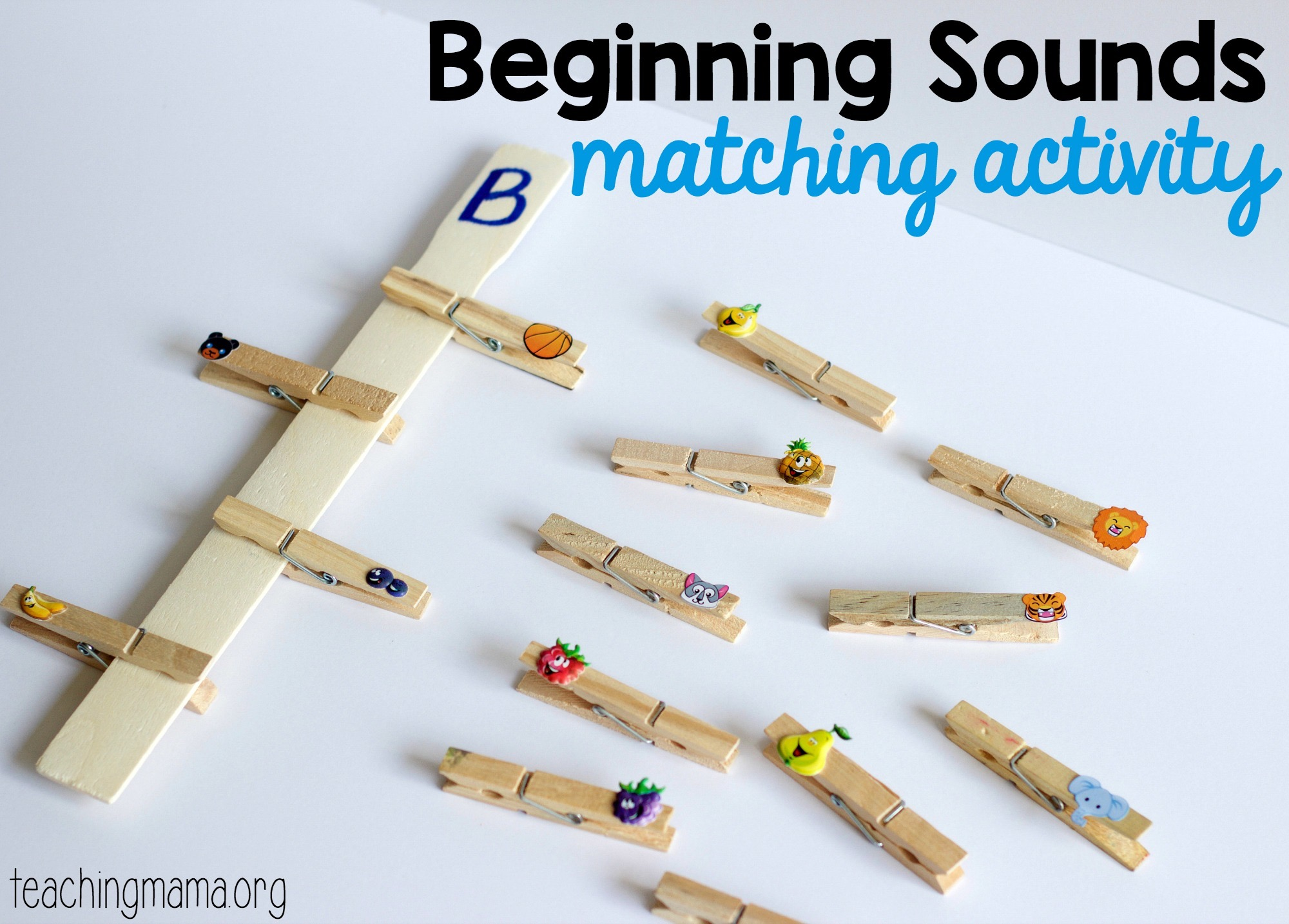Beginning Sounds Matching Activity