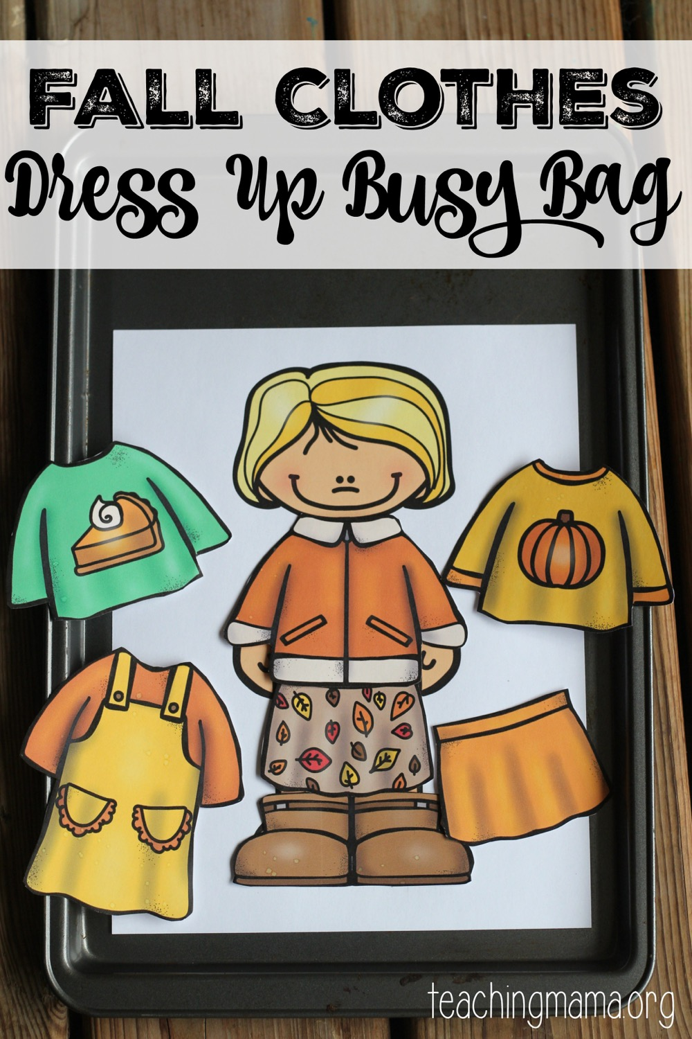 Fall Clothes Dress Up Busy Bag on winter clothes dress up busy bag free printable