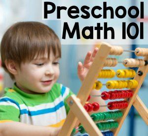 preschool math 101