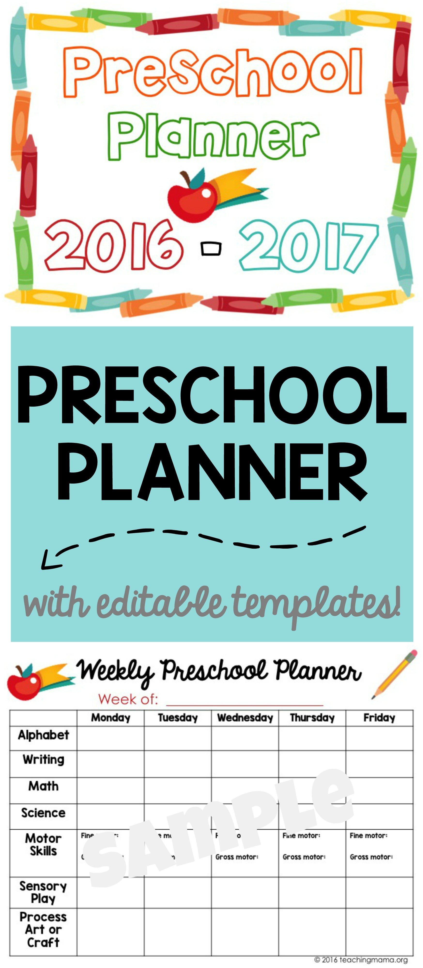 printable preschool planner on sale now teaching mama