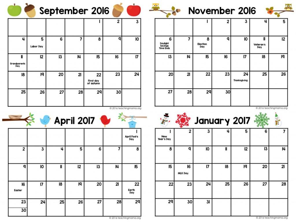 Kindergarten December Calendar Template : Sample calendar teaching mama
