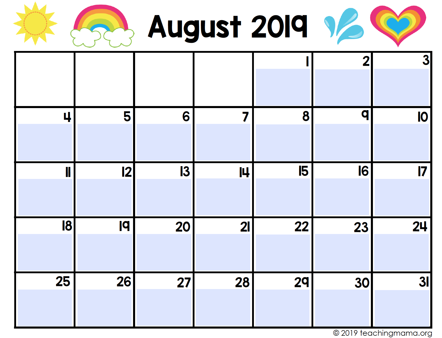 image about Printable Classroom Calendar called Printable Clroom Planner