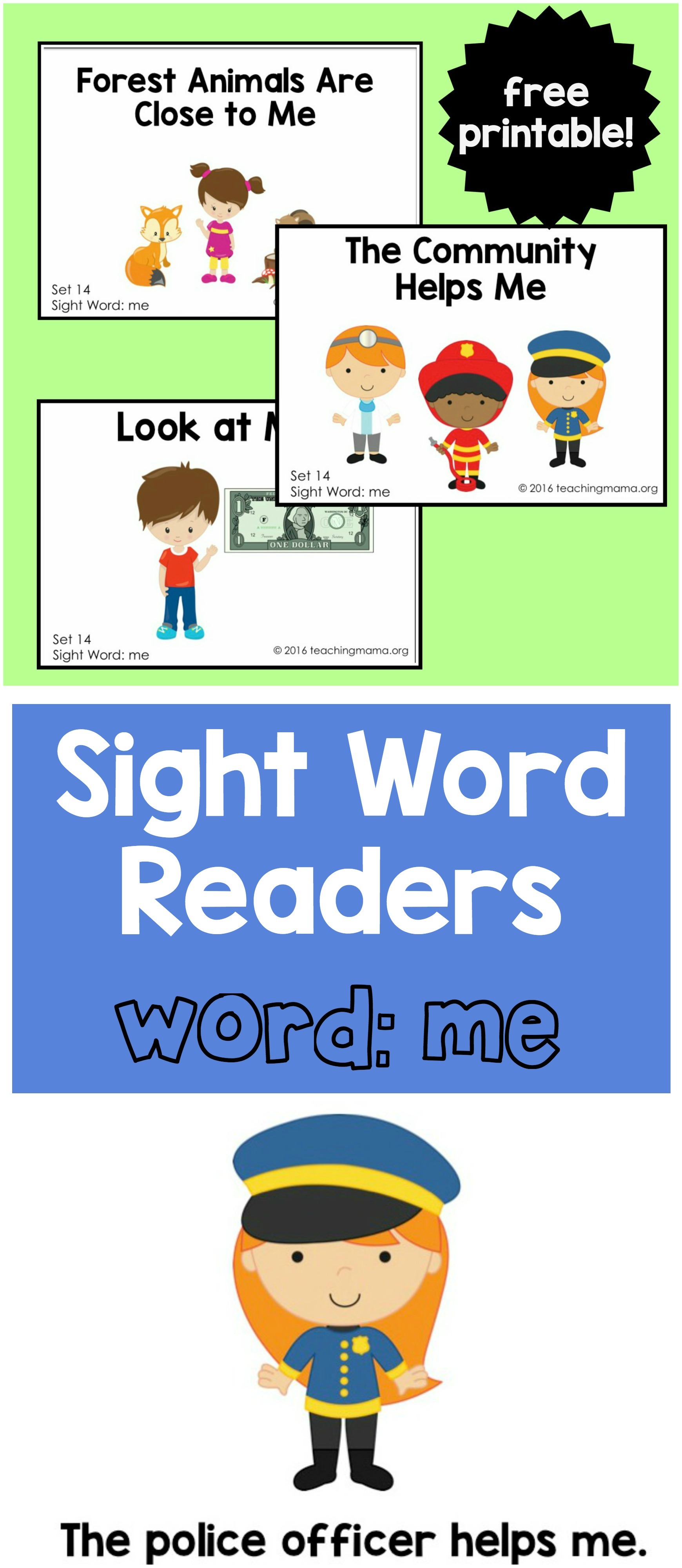 Sight Word Readers - Me