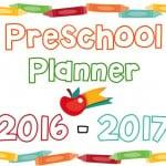 Printable Preschool Planner – On Sale Now!