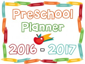 Printable Preschool Planner – On Sale Now!
