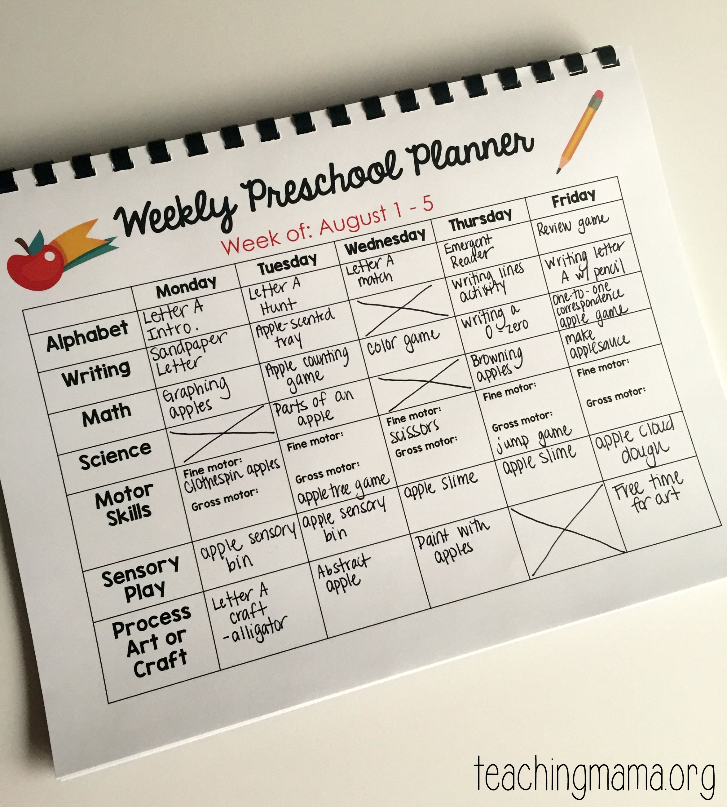 Printable Preschool Planner - On Sale Now! - Teaching Mama