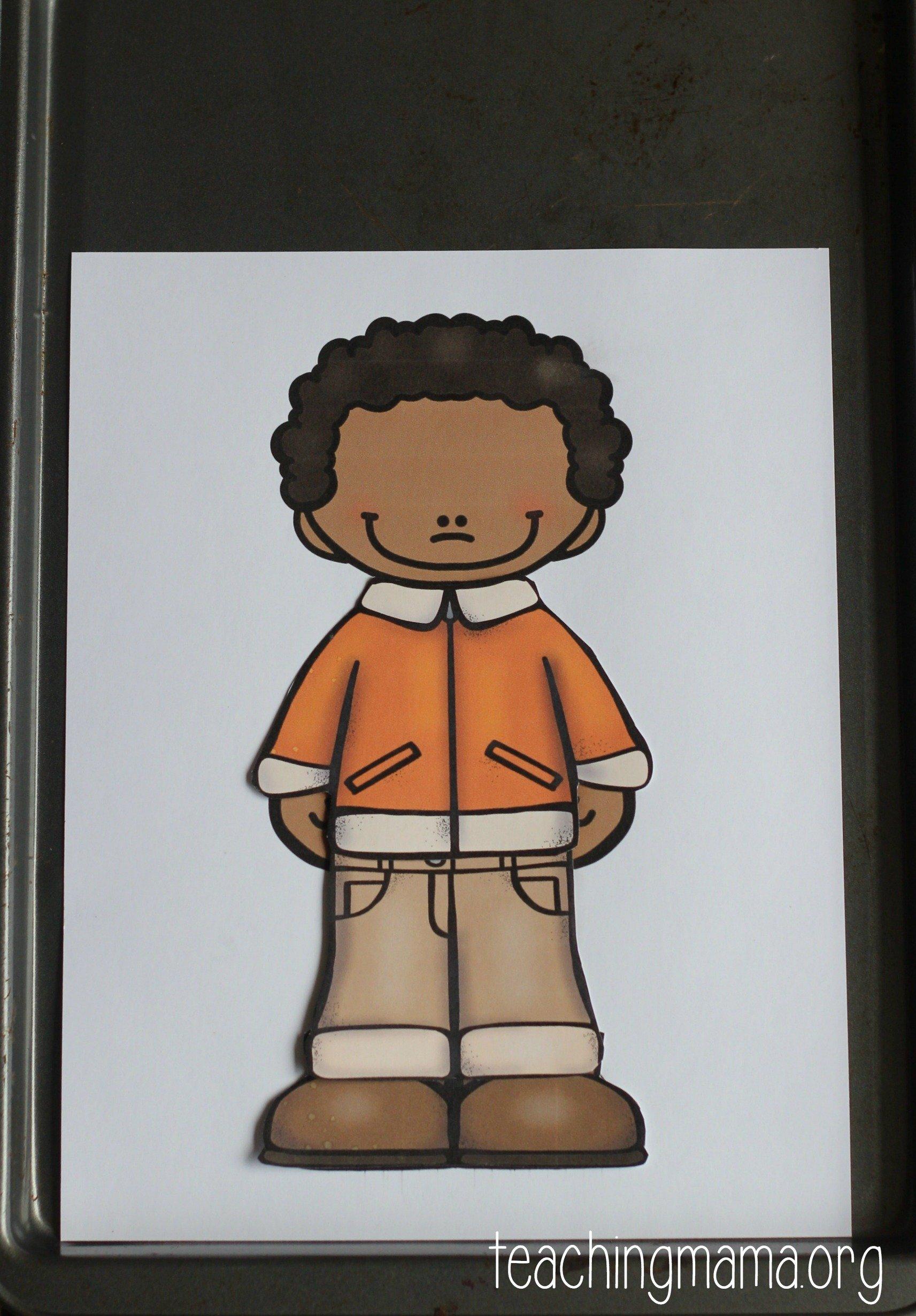 boy - orange jacket