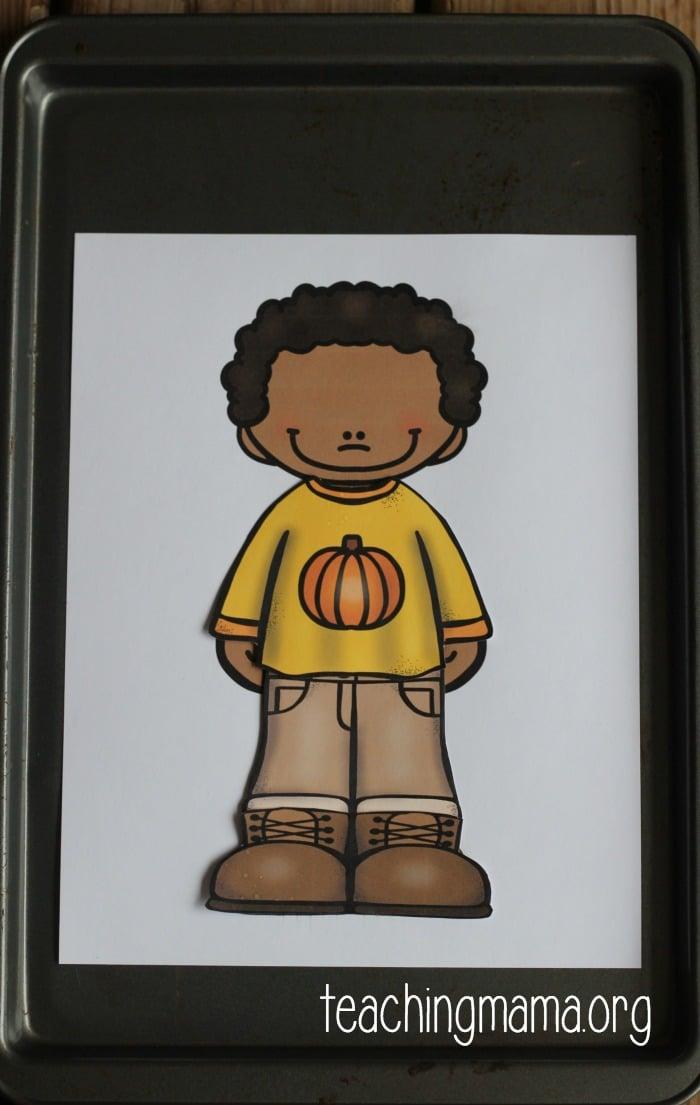 boy - pumpkin shirt