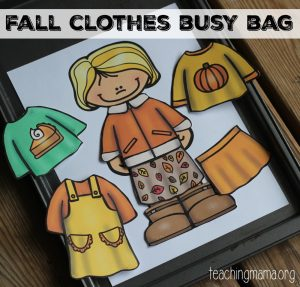 Fall Dress Up Busy Bag