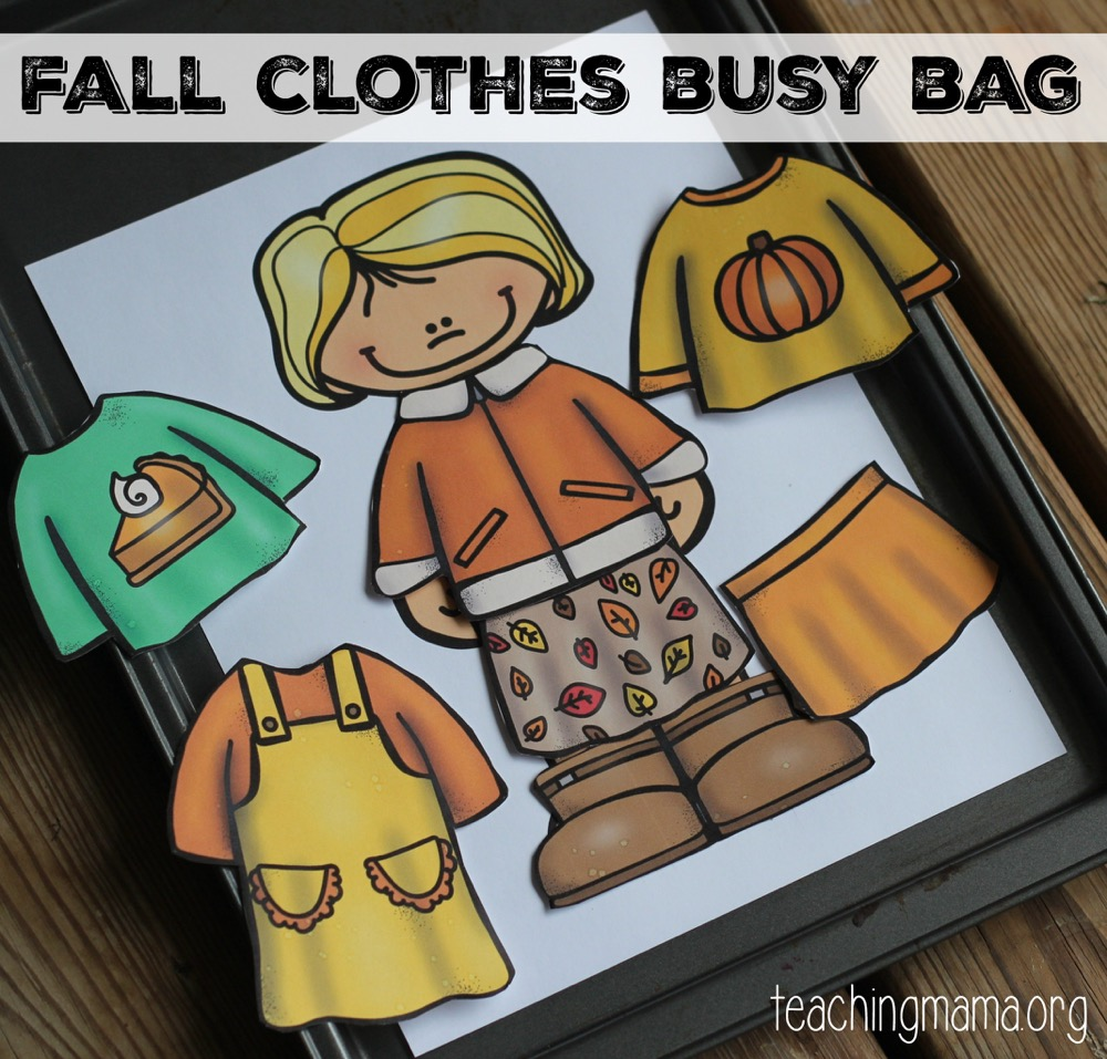 fall clothes busy bag- fb
