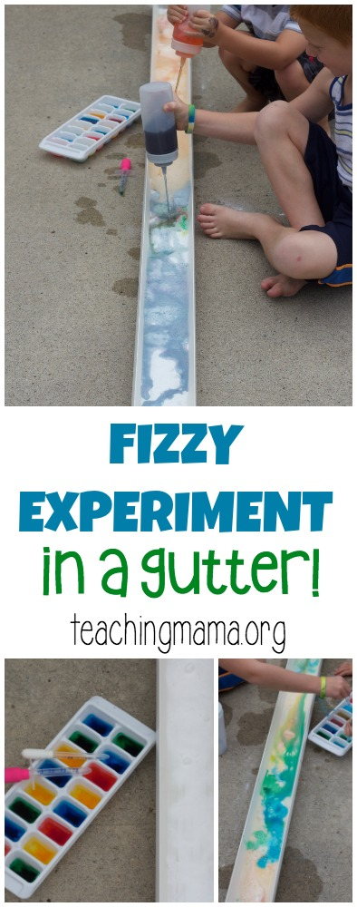 fizzy experiment in a gutter