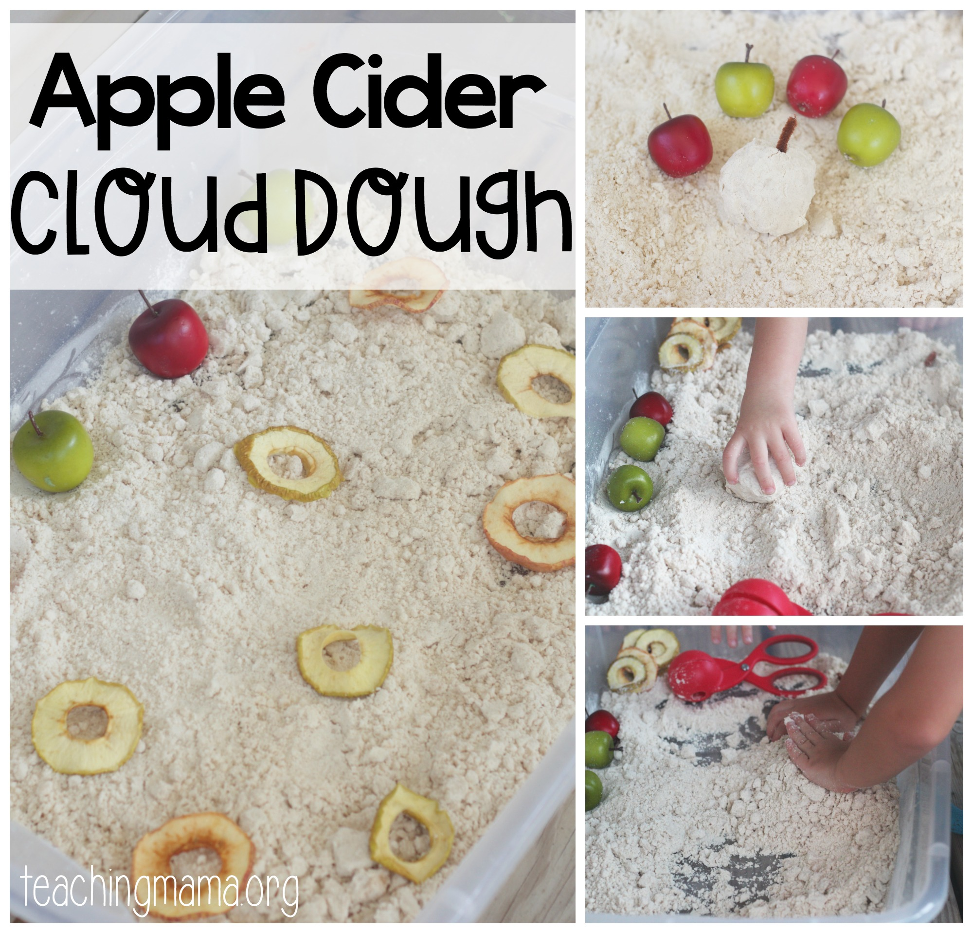 Apple Cider Cloud Dough - cfb