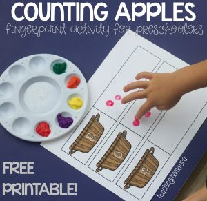 Counting Apple Printable