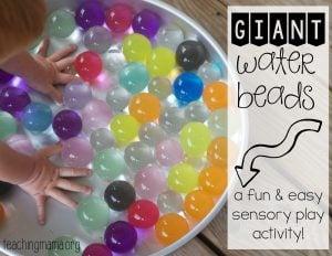 Giant Water Beads – Amazing Sensory Activity!